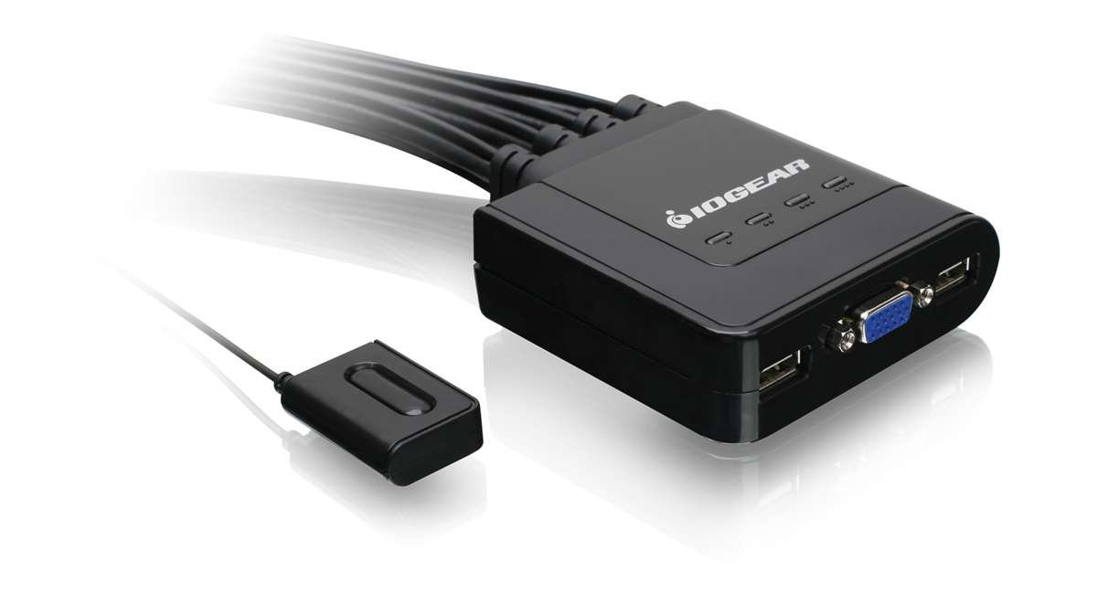 Iogear Gcs24u 4 Port Usb Cable Kvm Switch W Cables Vga
