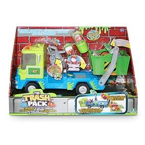 Trash Pack - 6533 - Figurine - Camion Benne + 2 Personnages et Poubelles