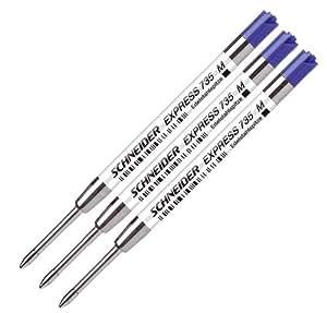 Schneider 77305 - Kugelschreibermine 735M 3-er, blau