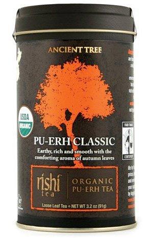 Rishi Tea - Organic Pu-Erh Classic, 3.2 Oz Loose Leaf Tea