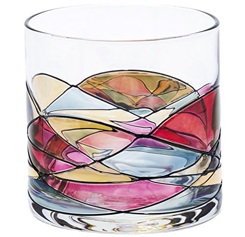 ANTONI BARCELONA Whiskey Glass 12oz - Unique Lowball Glass, Drinking Glasses, Old Fashioned Glasses, Bourbon, Scotch & Rocks Glass - Unique Gifts For Men, Women, Dad, Him, Groom - Set Of 1 (Turn Knob Microwave compare prices)