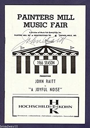 "John Raitt (Signed) ""A JOYFUL NOISE"" Donna McKechnie 1966 FLOP Tryout Playbill at Amazon's"