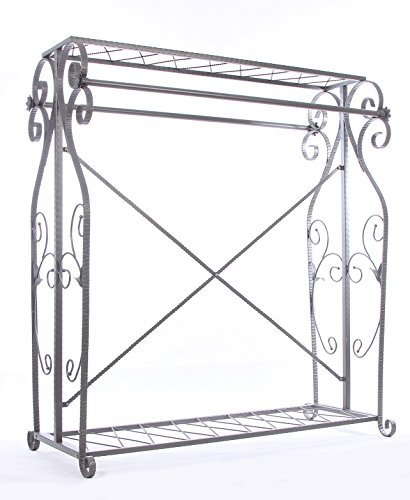 Decorative Grey Steel Iron Garment Coat Rack (Y009D) 0