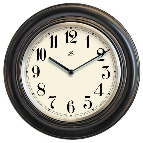 Infinity Instruments The Benchmark Black Wood Wall Clock