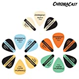 ChromaCast Vintage Guitar Picks 15-Piece Pick Sampler. Medium Gauge (0.73mm)