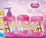 DISNEY PRINCESS 3pc BATHROOM ACCESSORY SET