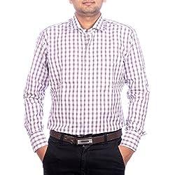 Aaduki Men's Casual Maroon Shirt-XL