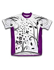 Flower Loops Short Sleeve Cycling Jersey for Women