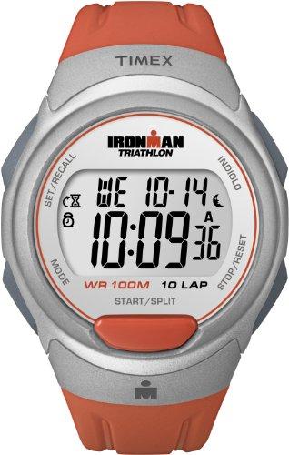 Timex Men'S T5K611 Ironman Traditional 10-Lap Orange Resin Strap Watch
