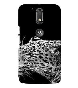 PrintVisa Animal Leopard Design 3D Hard Polycarbonate Designer Back Case Cover for Motorola Moto G4 Plus