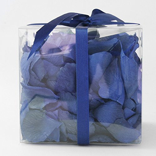 Firefly Imports 300-Piece Faux Rose Petals Aisle Confetti Table Scatter, Royal Blue