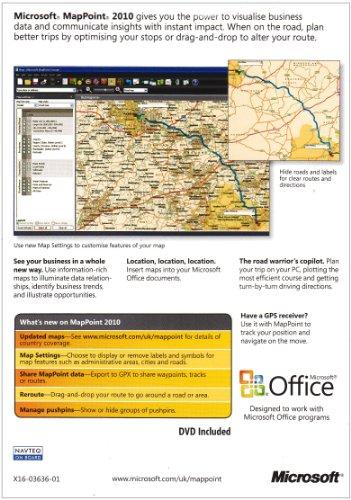 Microsoft Mappoint 2010 Europe - Ensemble Complet - 1 Pc - Dvd - Anglais - Emea
