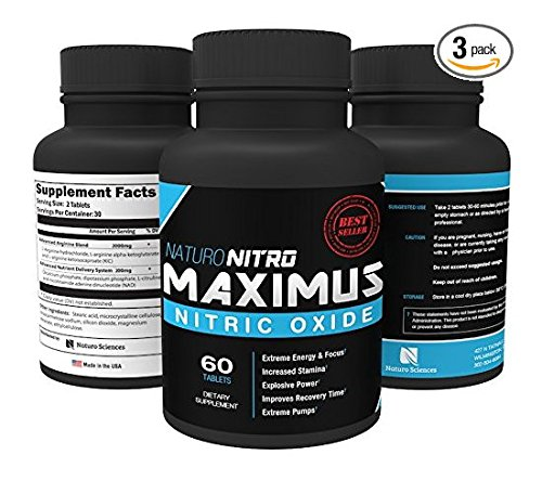 Maximus Nitric Oxide Tablets151; High Potency NO Booster and L-arginine Supplement - Allows You to Build Muscle Faster, Workout and Train Longer and Harder151; 60 Tablets, Pack of 3 - 180c (Tens Unit Male compare prices)