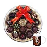 Chocholik Belgium Chocolate Gifts - Lip Smacking Choco-Platter With Diwali Special Coffee Mug - Diwali Gifts