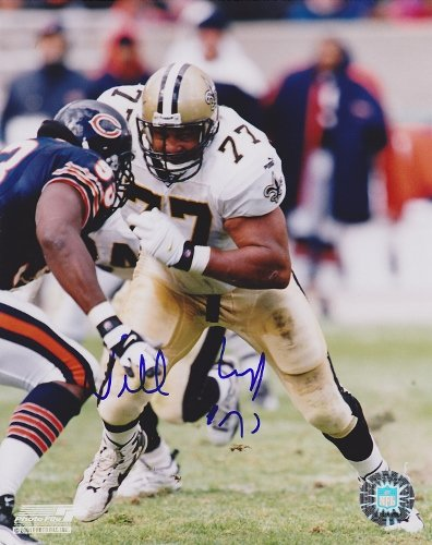 Willie Roaf Autographed / Hand Signed New Orleans Saints 8x10 Photo lauren holly signed autographed dragon the bruce lee story glossy 8x10 photo coa matching holograms