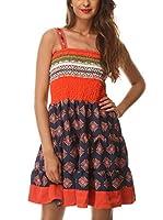 Almatrichi Vestido Cris (Naranja / Multicolor)