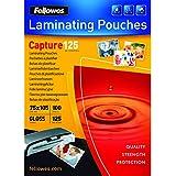 Fellowes  5306901 Capture - Pack de 100 Pochettes de plastification brillantes 125 microns 75x105 mm    - Transparent