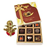 Chocholik Belgium Chocolates - 9pc Special Love Combo Wishes With Ganesha Idol - Diwali Gifts
