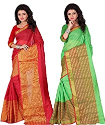 kunika designer Multicoloured Manipuri Silk Saree Combos