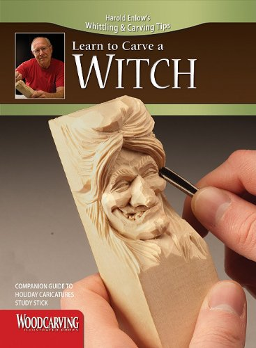 Holiday Caricatures Study Stick Kit (Learn to Carve Faces with Harold Enlow) [With Study Stick, Made of Molded Resin and Instruction Booklet] (Harold Enlow's Whittling & Carving Tips)
