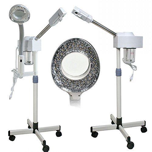 Professional Salon Facial Steamer 2 in 1 with Lighted Magnifying Glass and Lamp( USA Stock) (2 In 1 Steamer And Mag Lamp compare prices)