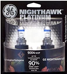 GE NIGHTHAWK PLATINUM 9004 Halogen Replacement Bulb, (Pack of 2)