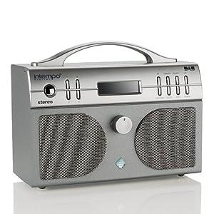 Intempo Digital PG 02 DAB/FM Radio with alarm clock, sleep and snooze - Silver