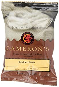 Cameron's Breakfast Blend Ground Coffee, 1.75-Ounce Pouches (Pack of 24)