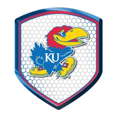ncaa-kansas-jayhawks-team-shield-automobile-reflector