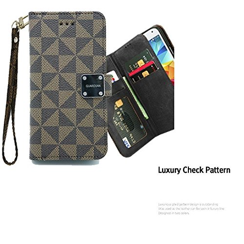For Samsung Galaxy On5, Willmart Premium Luxury Louis PU Leather Wallet Case Stand Cover Multiple ID Slots With Magnetic Clasp Samsung ON 5 (Louis Vuitton Samsung compare prices)