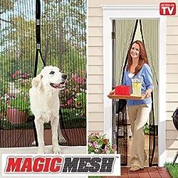 CONNECTWIDE® Magic Mesh Hands Free Magnetic Screen Door: Doors ★ Premium Quality ★ Tough & Durable ★