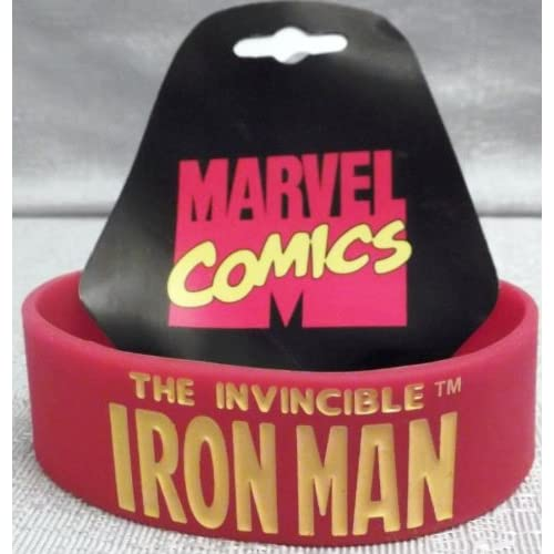 Marvel Comics The Invincible IRON MAN 7 Red Long Bracelet WRISTBAND