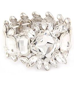 celebrity luxus designer armband rundum geschliffenen glas steinen 4 7cm your 1 source for. Black Bedroom Furniture Sets. Home Design Ideas