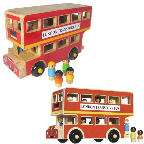 Double Decker Bus - Hand Made Fair Trade Toy - Natural Wood