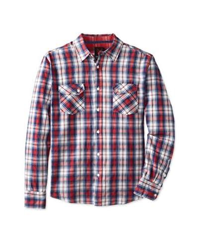 ONE90ONE Men's Barnes Double Pocket Plaid Shirt