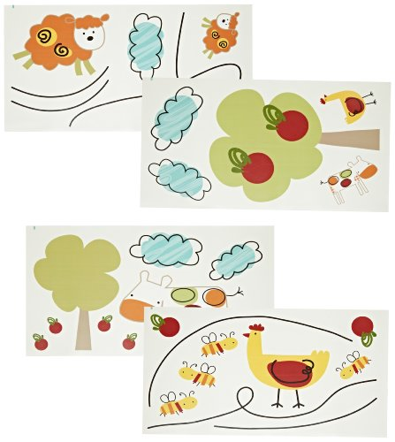 CoCo & Company Baby Farm Removable Wall Appliques (Discontinued by Manufacturer)