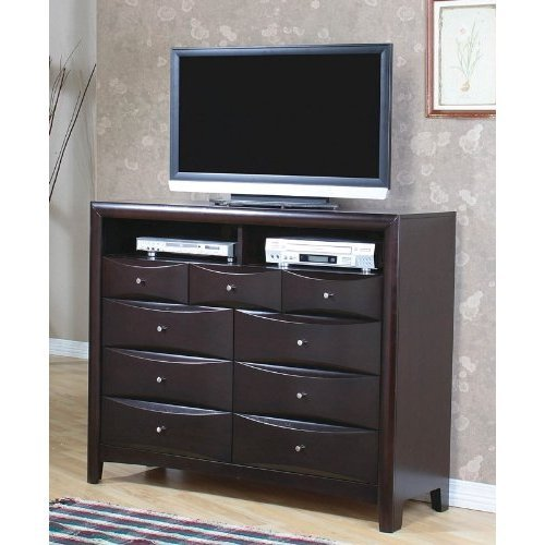 Coaster TV Dresser Stand Contemporary Style in