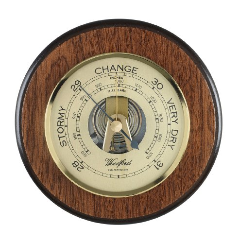 Wall Barometer Traditional Wooden Plaque Barometer made by Woodford.