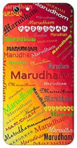 Marudham (Popular Girl Name) Name & Sign Printed All over customize & Personalized!! Protective back cover for your Smart Phone : Apple iPhone 6-Plus