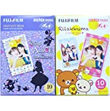 Fujifilm Instax Mini Instant Film 10 Sheets × 2 Packs (Disney Alice in Wonderland & RiLakkuma) [Komainu-Dou Original Packege]
