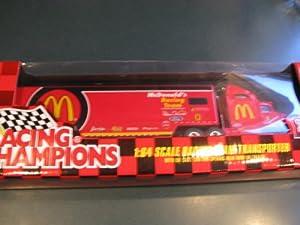 1998 Edition Bill Elliott #94 McDonalds Racing Team Hauler Trailer Rig Semi Truck Tractor Trailer Transporter 1/64 Scale Metal Cab Plastic Trailer