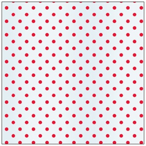 C.R. Gibson Holiday Cello Sheets, Package of 6, Red Dot,