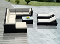 Big Sale Genuine Ohana Outdoor Sectional Sofa and Chaise Lounge Set (10 Pc Set) with Free Patio Cover