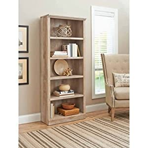 Better Homes And Gardens Crossmill Collection 5 Shelf Bookcase Lintel Oak Kitchen