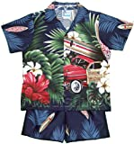 Cabana Set - Tropical Surfboard Woodie Boy's Hawaiian Aloha Camp Shirt & Matching Shorts 2PC Set