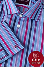 Sartorial Pure Cotton Multi-Striped Shirt