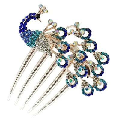 TOOGOO(R) Lovely Vintage Jewelry Crystal Peacock Hair Clips for hair clip Beauty Tools