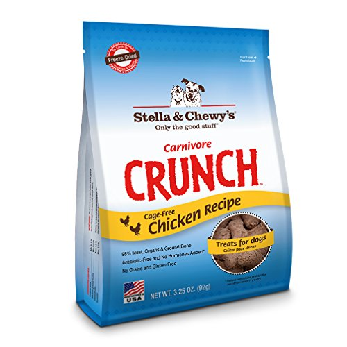 Stella & Chewy's Freeze-Dried Raw Carnivore Crunch Cage-Free Chicken Recipe Dog Treats, 3.25 oz bag (Stella Chewy Freeze Dried Chicken compare prices)
