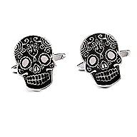 Three Keys Jewelry Men Skull Cufflink…