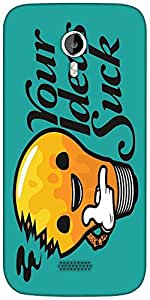 Snoogg Your Ideas Suck Funny Designer Protective Back Case Cover For Micromax A116